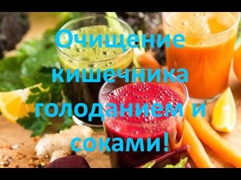 Очищение организма голоданием и соками!